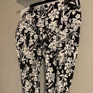 Terra & sky black/white crop skinny pants